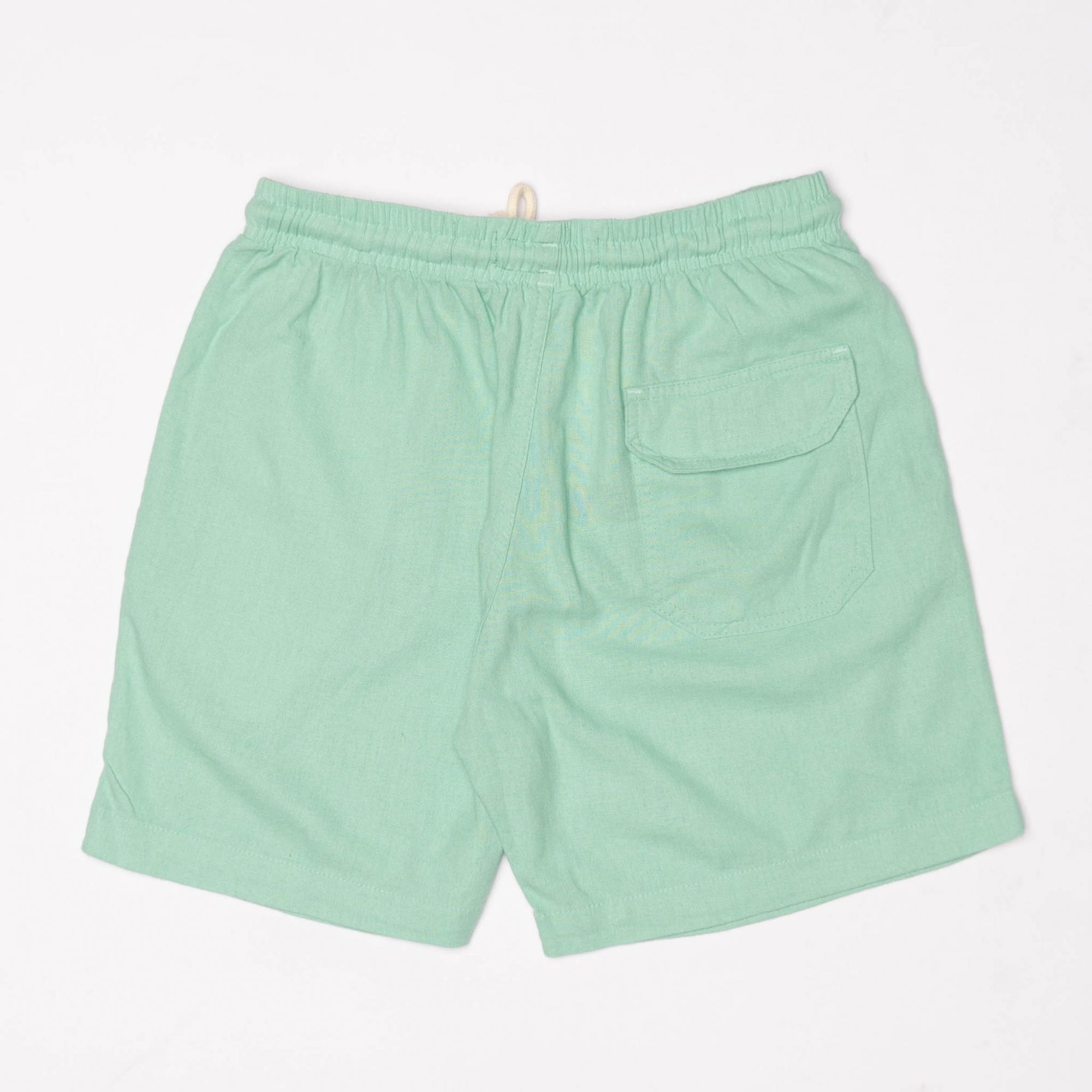 Short Linho Verde Claro