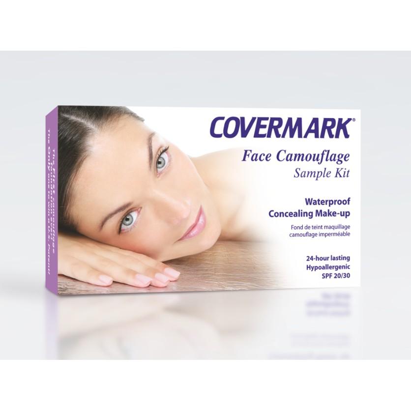Kit Covermark Foundation - 12 cores, Pó Fixador, Primer e Removedor