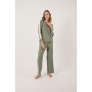 Homewear Moletinho Verde com Faixa