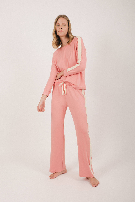 Homewear Moletinho Rosa com Faixa