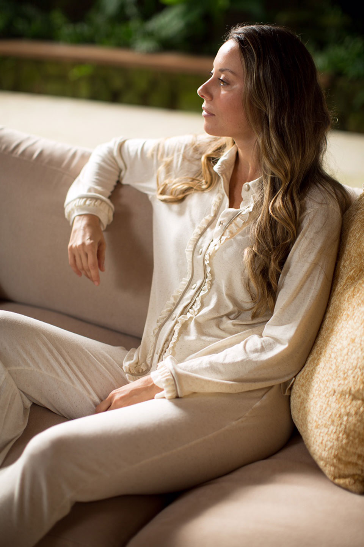 Pijama Nilo Bege com Botões