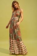 vestido longo mix estampas