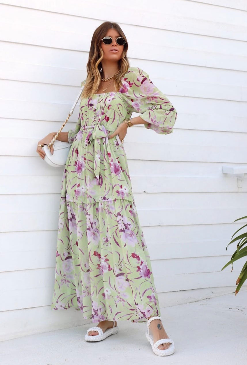 Vestido floral gypsy