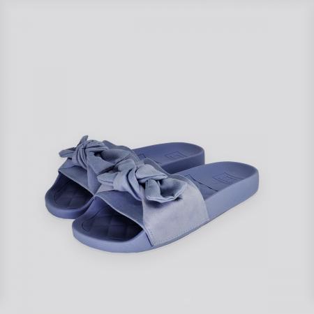 Chinelo Moleca Jeans Camurça ( azul )
