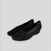 Sapato Anabela Piccadilly Preta Relax