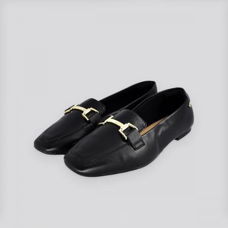 Sapato Loafex Via Uno Preto