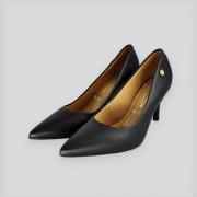 Sapato Scarpin Pelícia Preto Napa