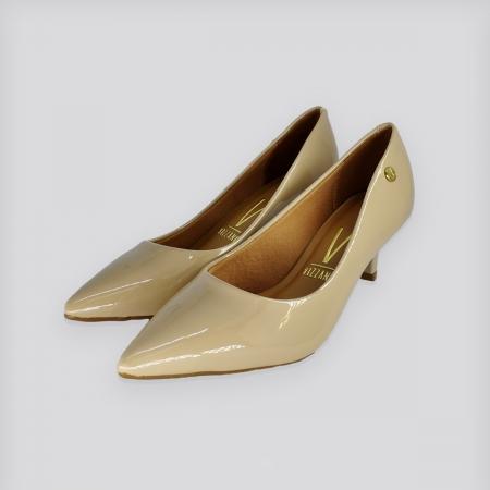 Sapato Scarpin Vizzano Bege Verniz