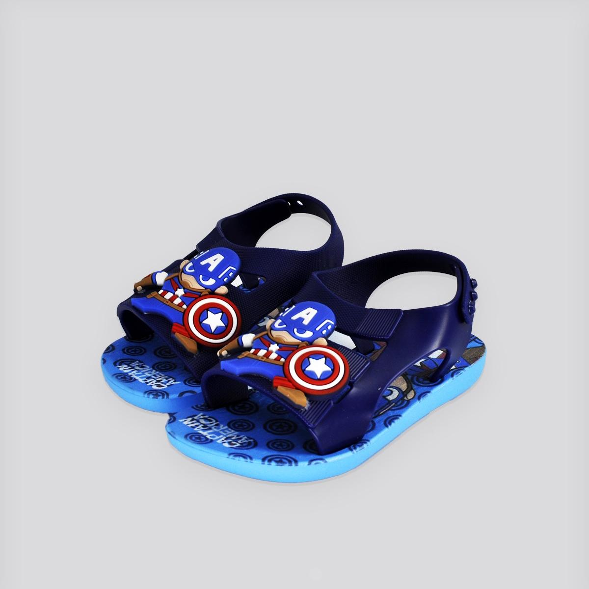 Chinelo Infantil Grendene Hero Marvel Baby Azul/Vermelho