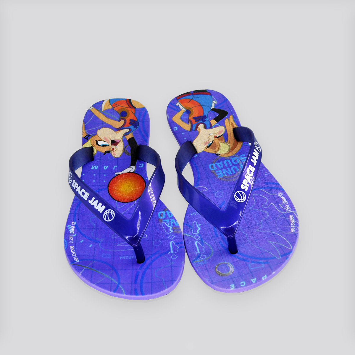 Chinelo Infantil Grendene Space Jam II Pop Lilás/Azul