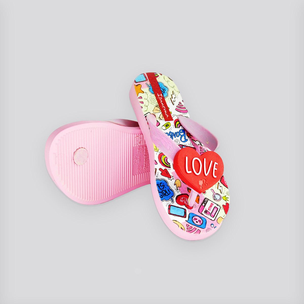 Chinelo Infantil Ipanema Barbie Rosa/Vermelho
