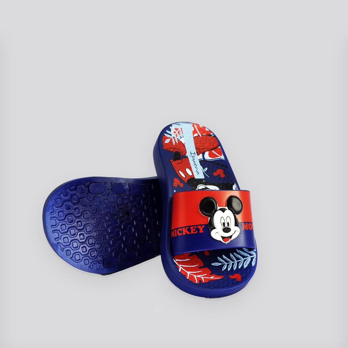 Chinelo Infantil Ipanema Disney Slide Azul/Vermelho Mickey