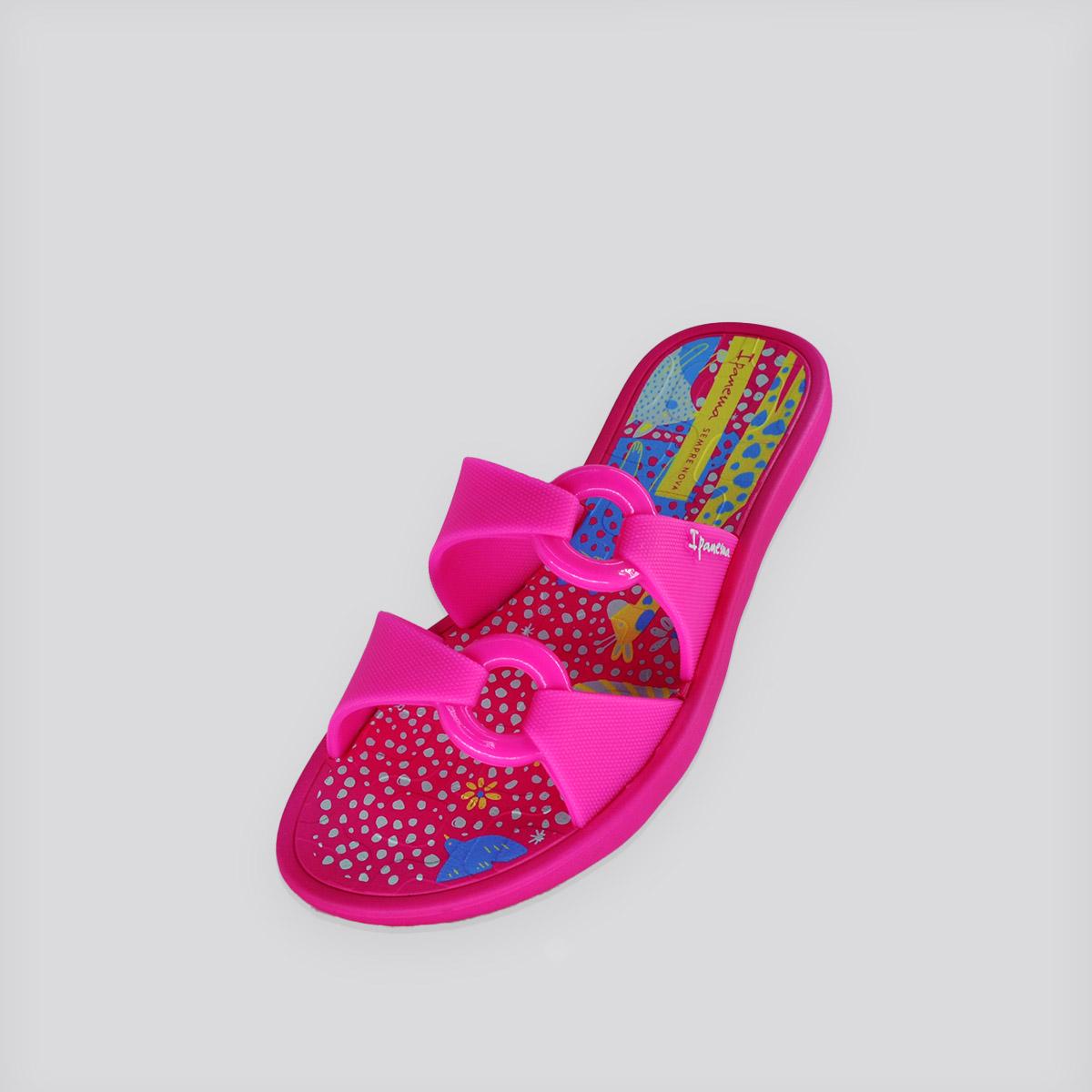 Chinelo Infantil Ipanema Ella Print Rosa/Amarelo