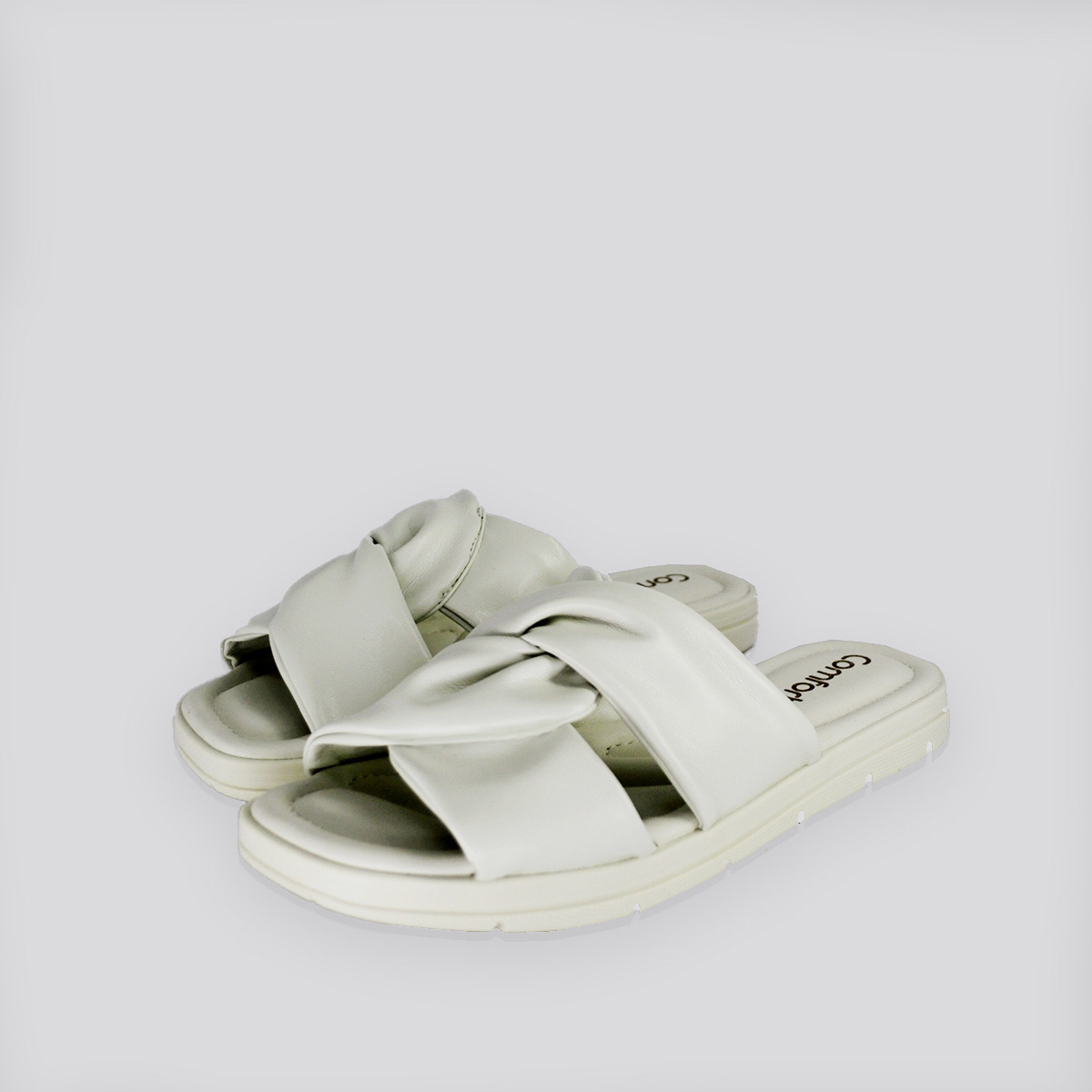 Chinelo  - Rasteira ConfortFlex Branco Nevoa