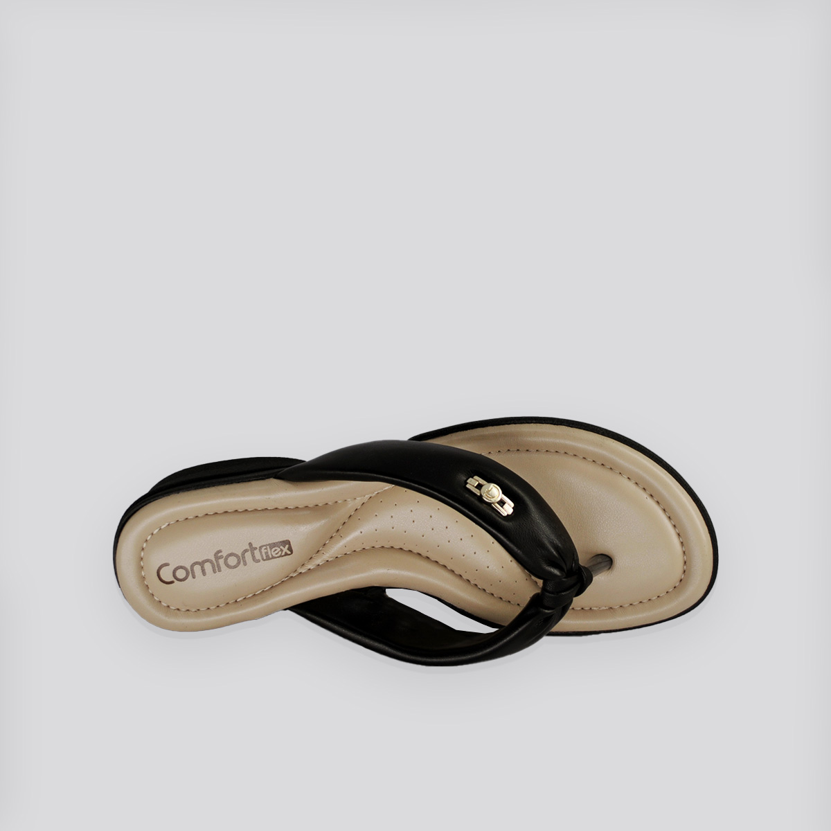 Chinelo  - Rasteira ConfortFlex Preto Napa