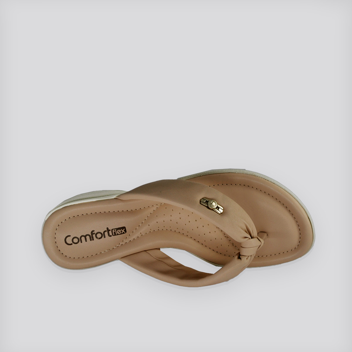 Chinelo  - Rasteira ConfortFlex Rose Napa