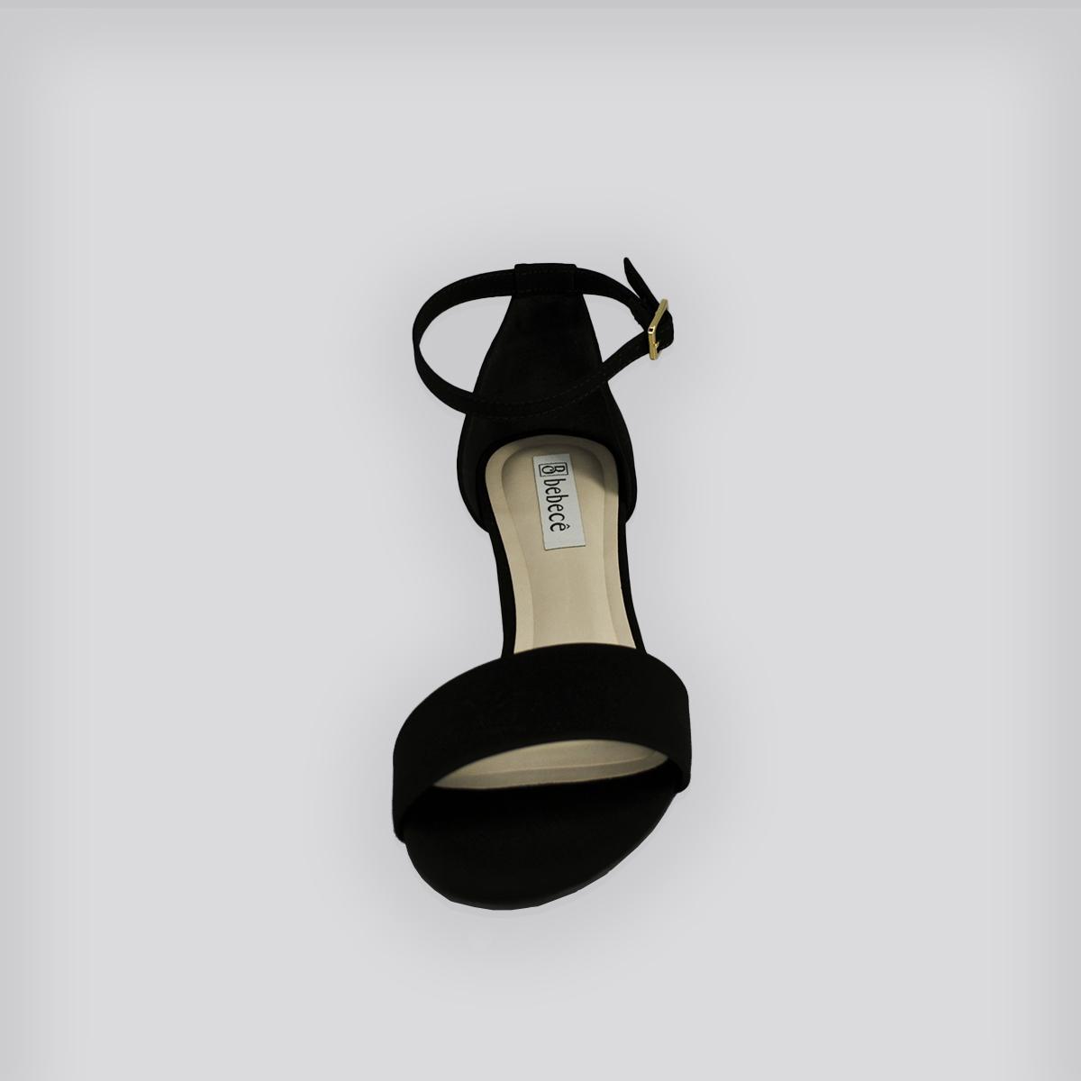 Sandália Bebecê Manhattan - Preto Nobuck
