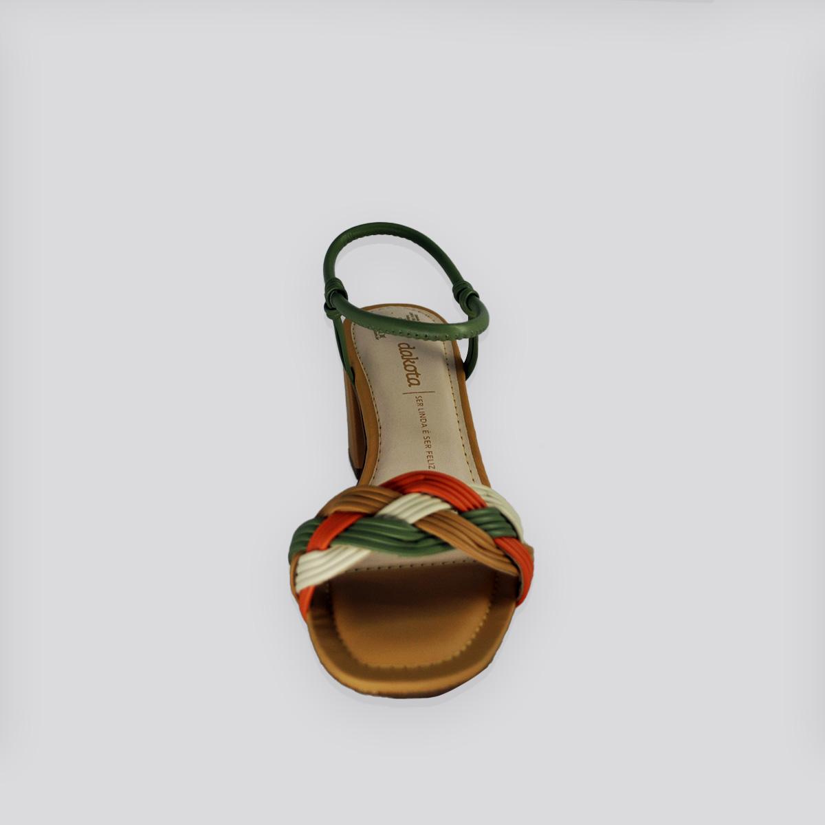 Sandália  Dakota Koza Salto Baixo -  Tira Citrus ( Bege/Baunilha )