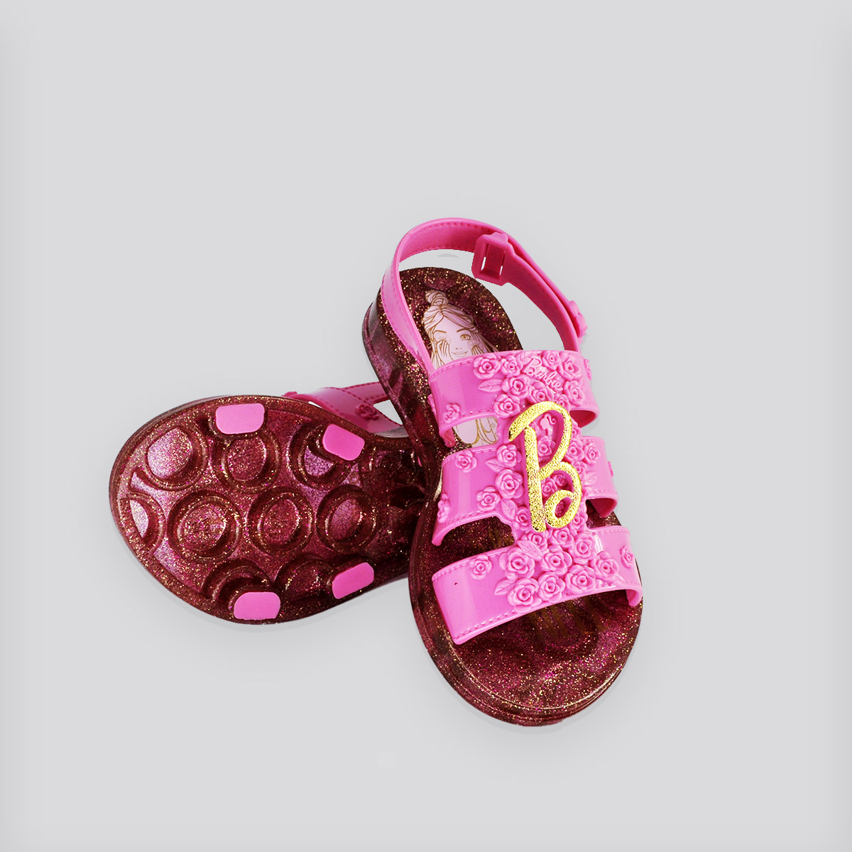 Sandália Grendene Barbie SPA Rosa