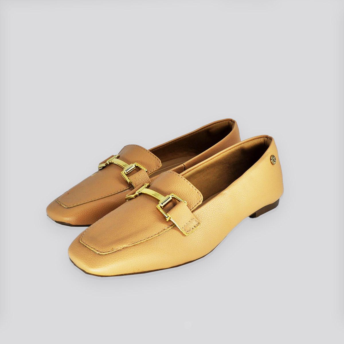 Sapato Loafex Via Uno Antique (Bege)