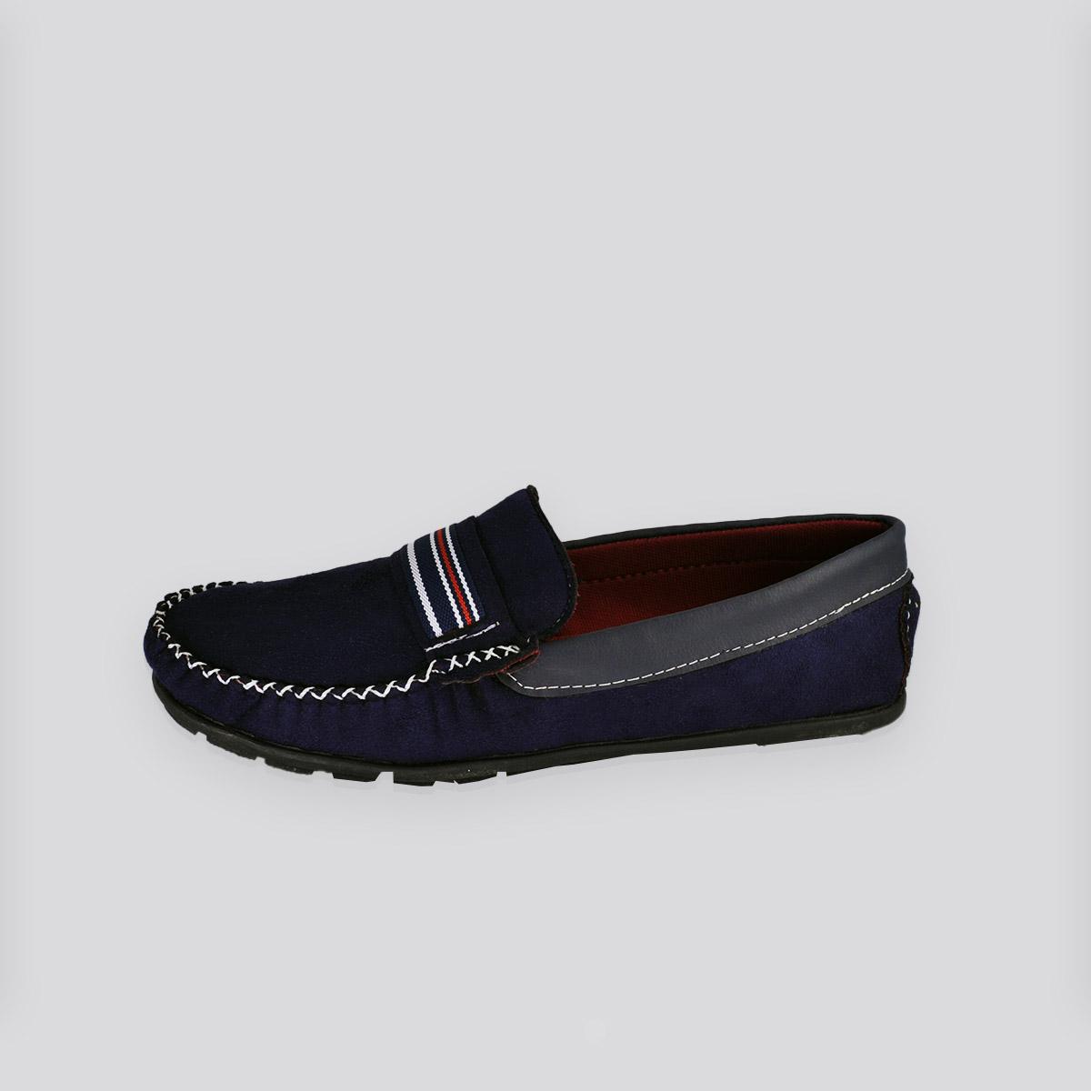 Sapato Masculino Mocassim Cabedali Azul Marinho