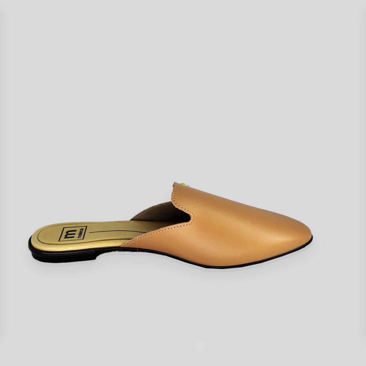 Sapato Moleca Mule Nude Napa ( Bege )