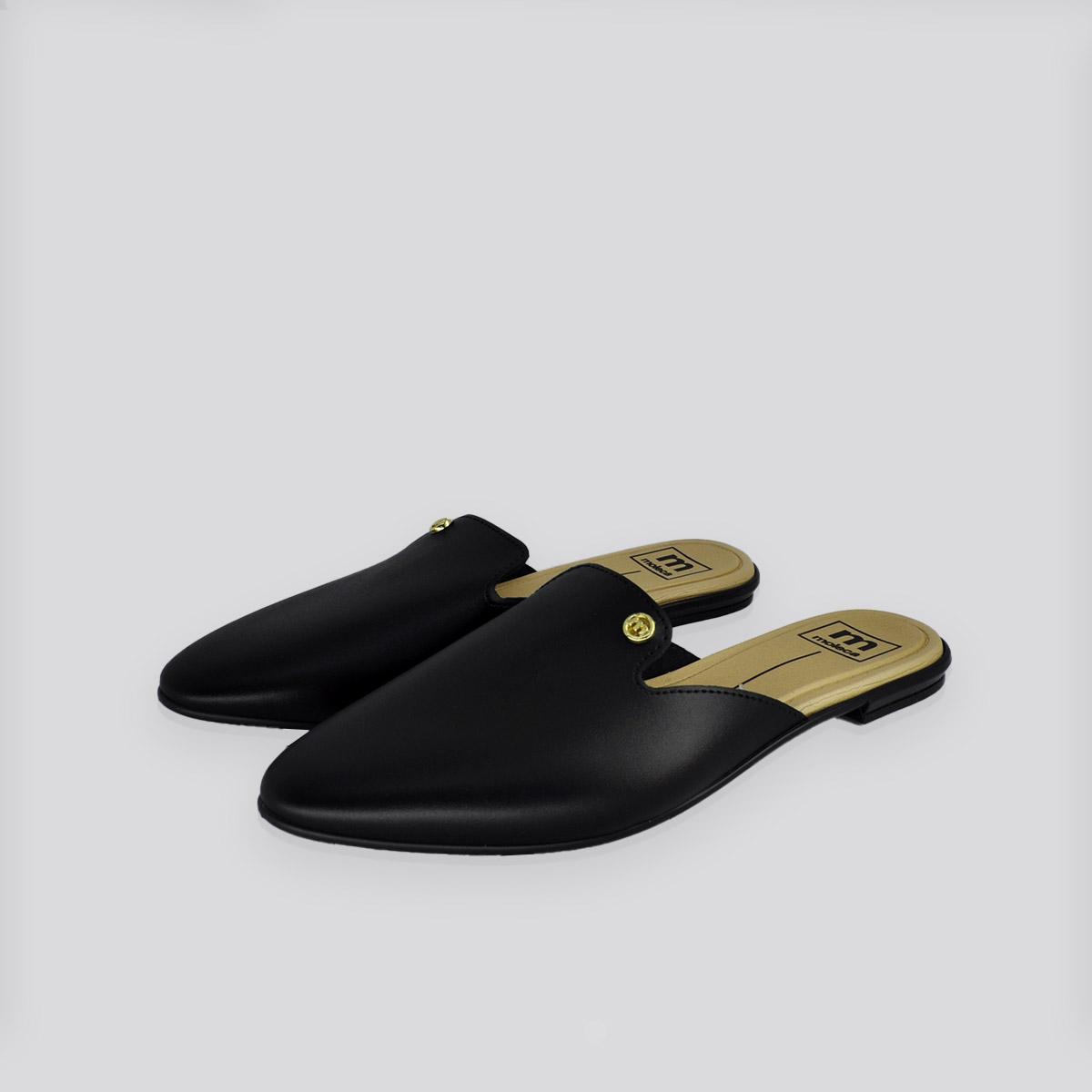 Sapato Moleca Mule Preto Napa