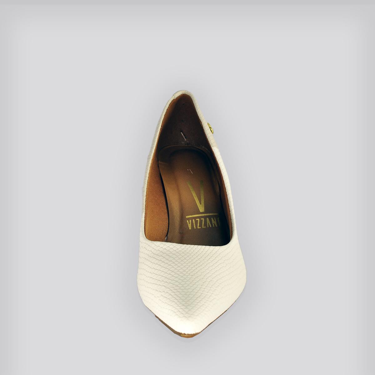 Sapato Scarpin Mini Cobra Branco OFF Nobppk