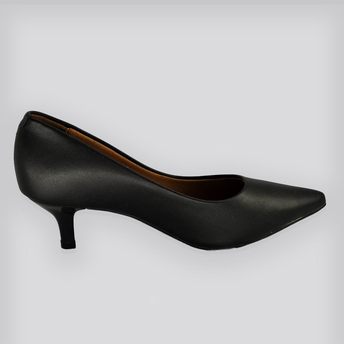Sapato Scarpin Pelicia Preto Napa