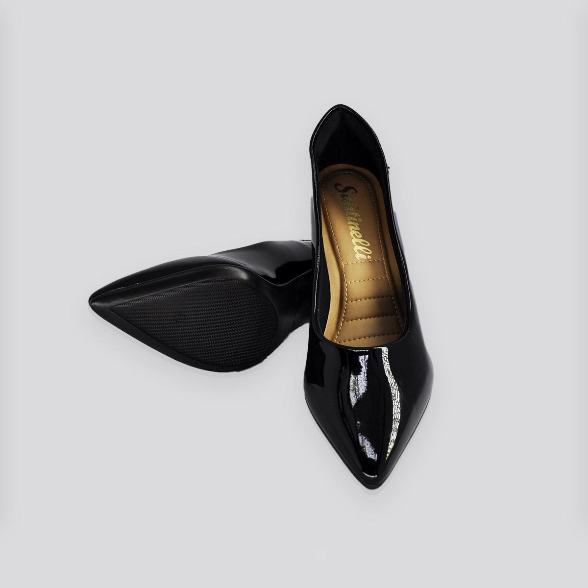 Sapato Scarpin Santinelli Preto Verniz
