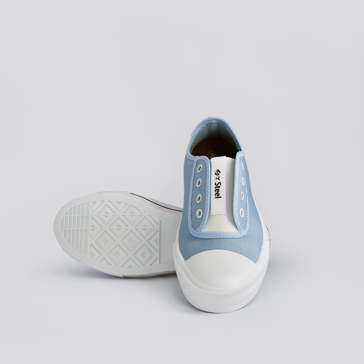 Tênis Feminino Casual com Elástico Steel Azul Bebê