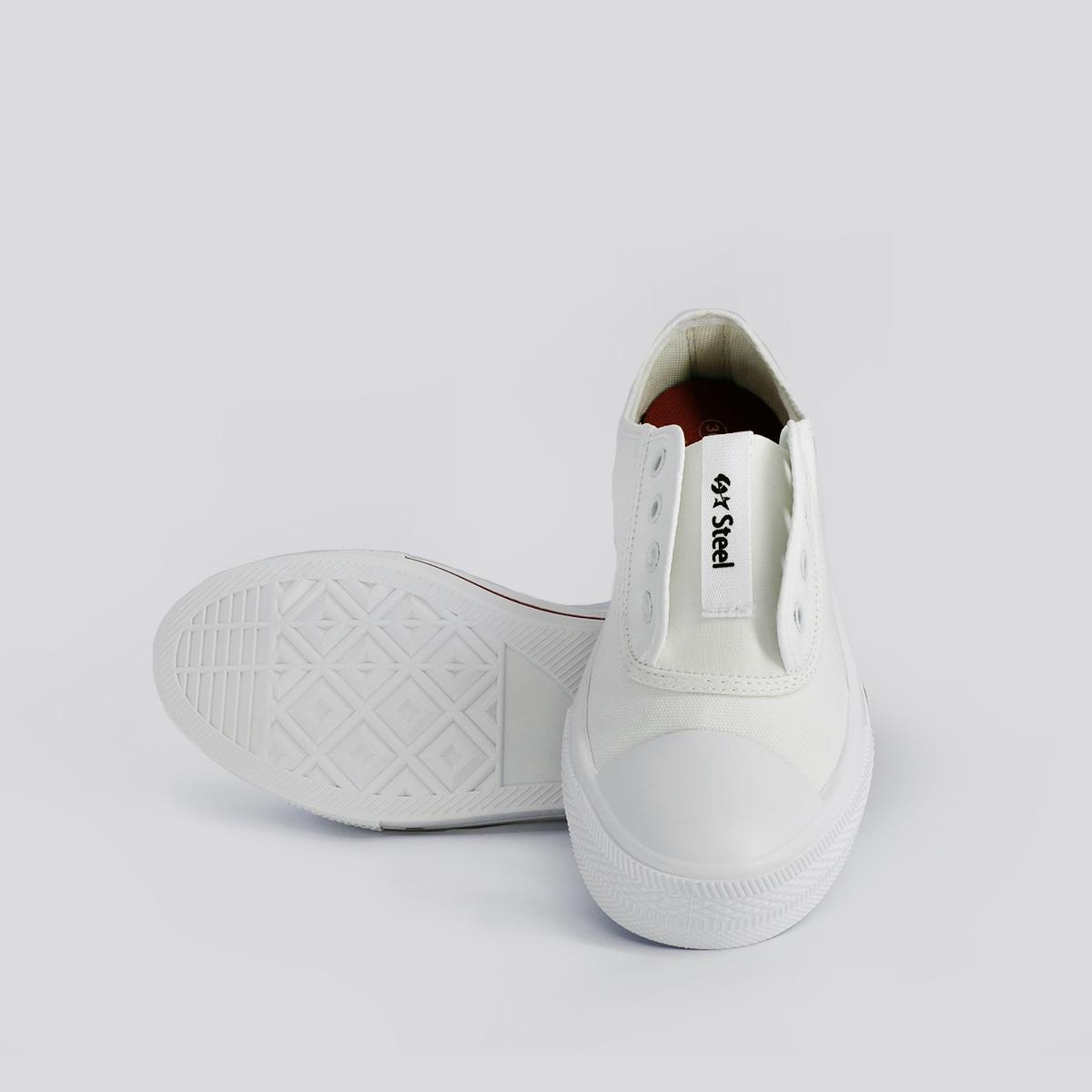 Tênis Feminino Casual com Elástico Steel Branco