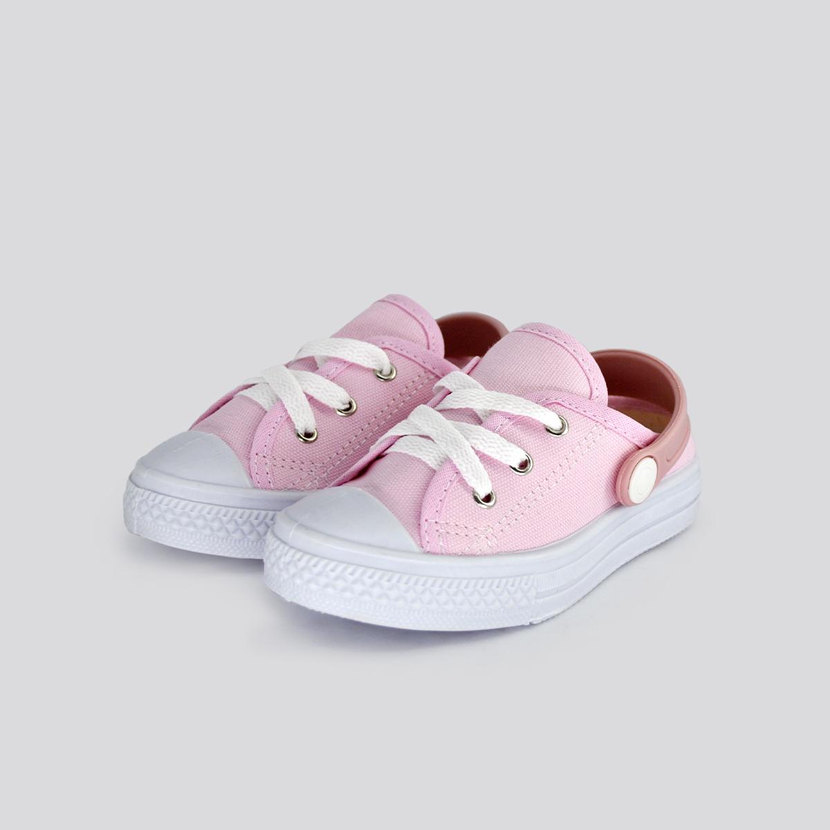 Tênis Infantil Foco Mule Rosa Bebê