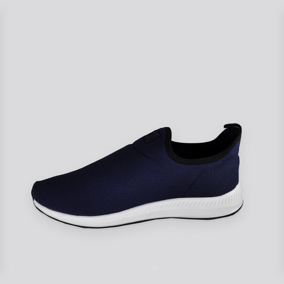 Tênis Masculino Kalpak Calce  Fácil Azul Marinho/Branco
