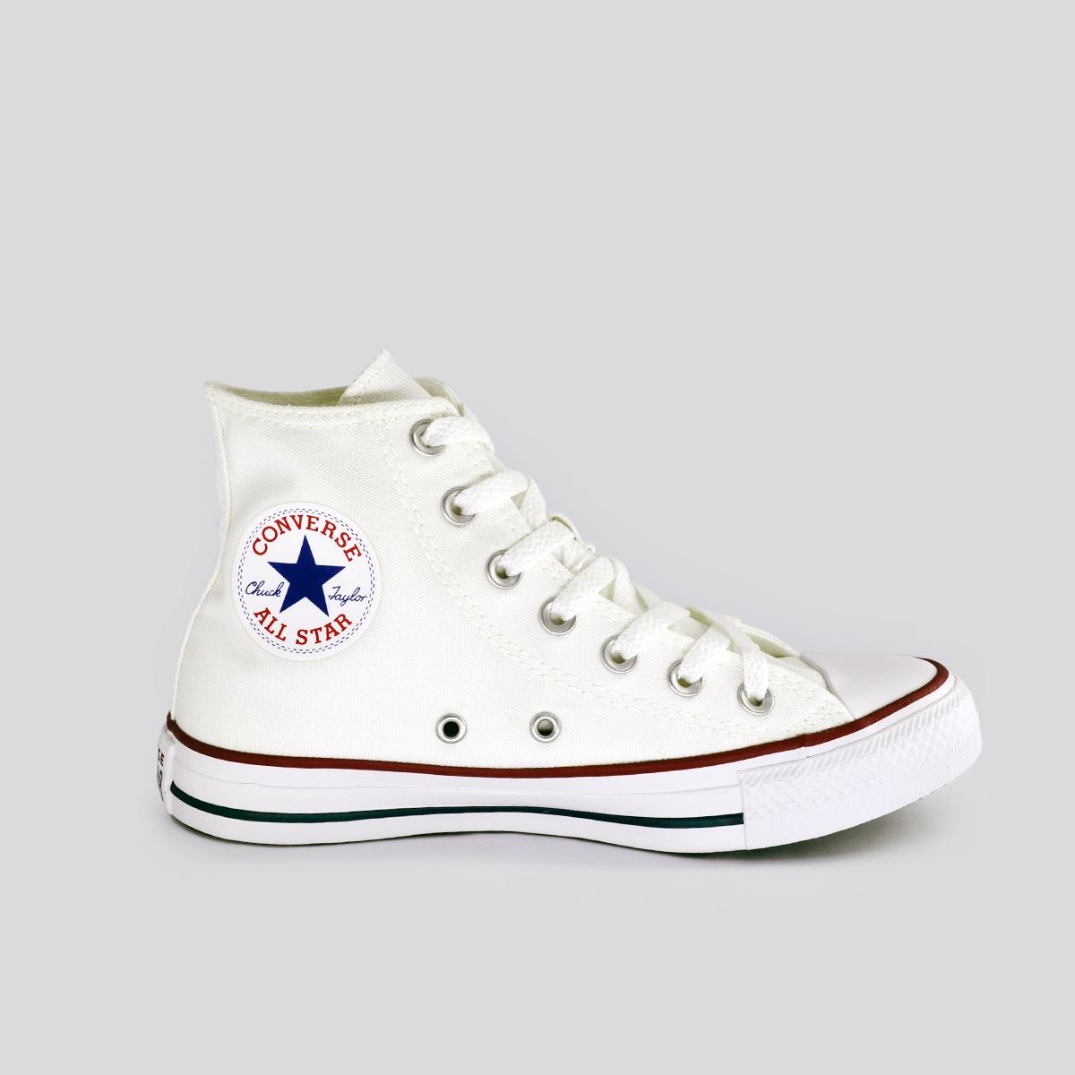 Tênis Unissex Converse All Star Branco Cano Alto