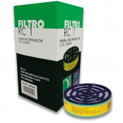 Cartucho Filtro RC-1 Carbografite para Máscara CG-304N (caixa c/ 6)