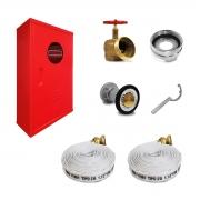 Kit Hidrante Completo 90x60x17cm Alumínio 2 Mangueira de 15m