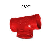 Tee Grooved Vermelho 2.1/2'' 73mm