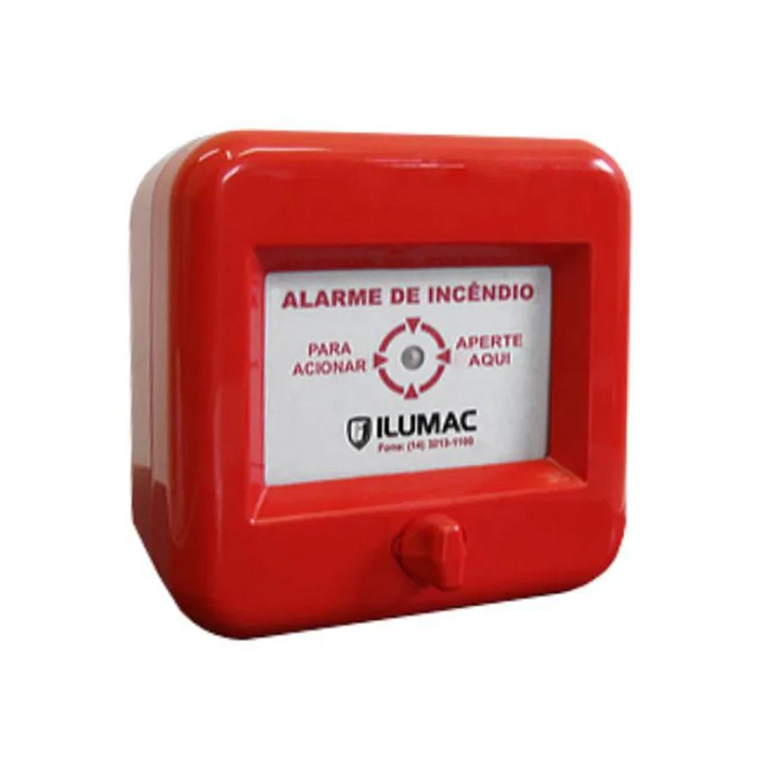 Acionador alarme de incêndio AMF-E c/Rearme ILUMAC endereçável