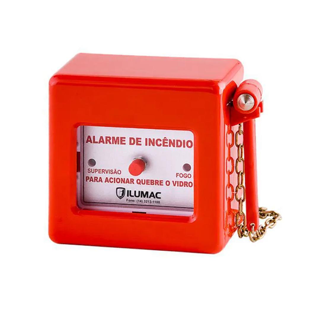 Acionador de alarme de incendio AM-C com martelo ILUMAC