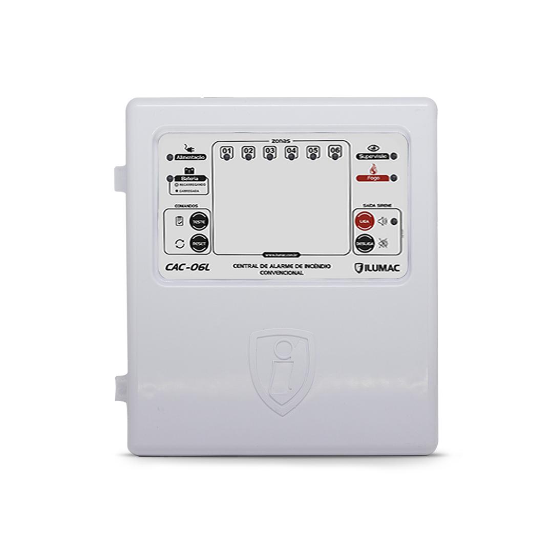 Central de Alarme Convencional CAC  06 Laços X 12vcc