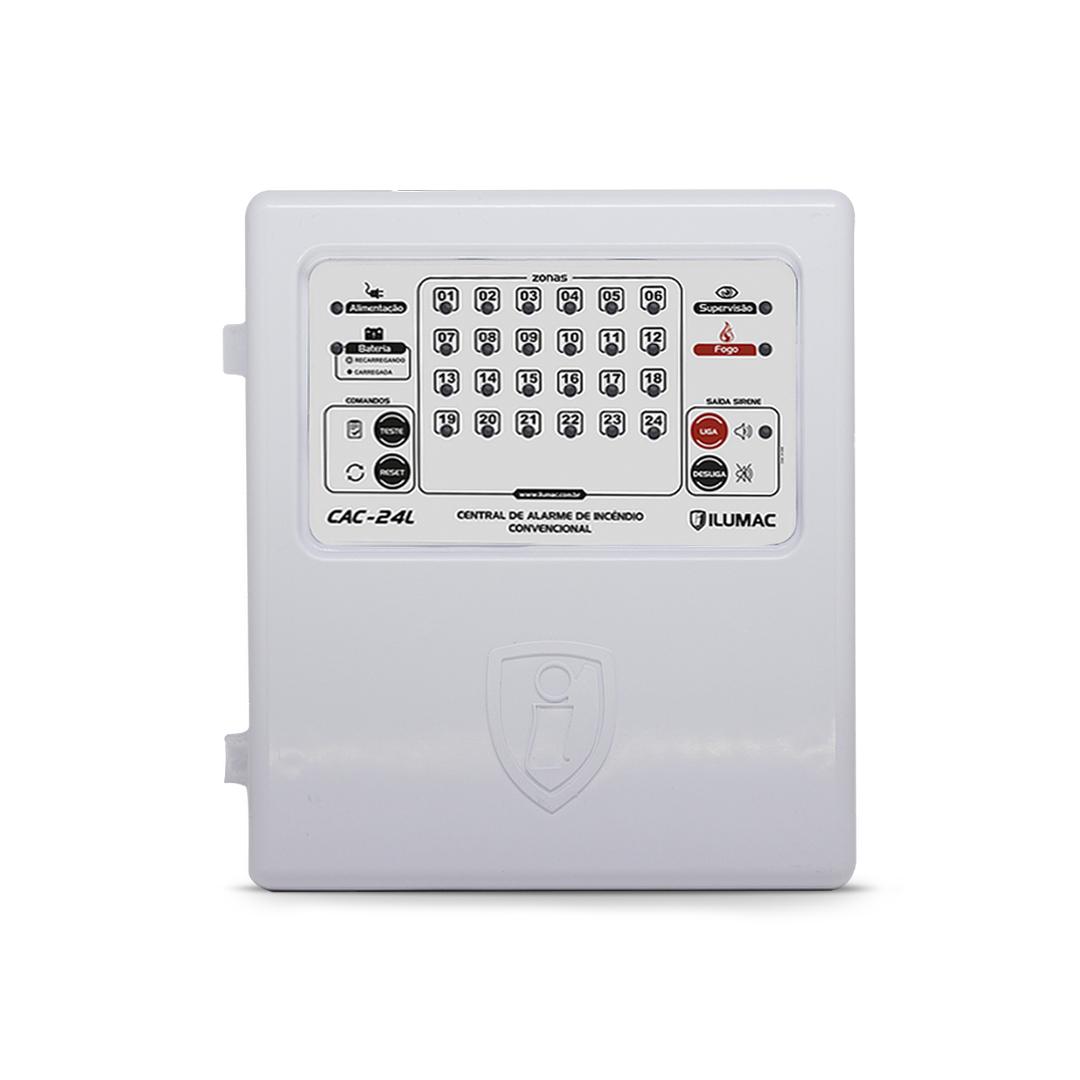 Central de Alarme Convencional CAC  24 Laços X 12vcc
