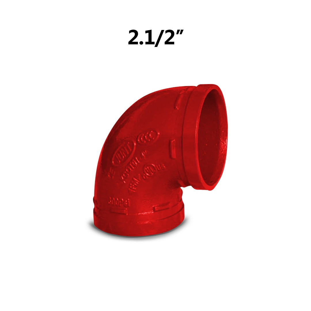 "Curva Grooved Vermelho 2.1/2"" 73mm"