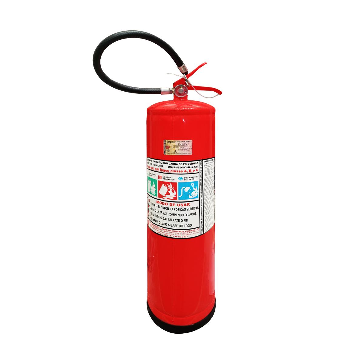 Extintor Pó BC - 12Kg - Validade 1 Ano