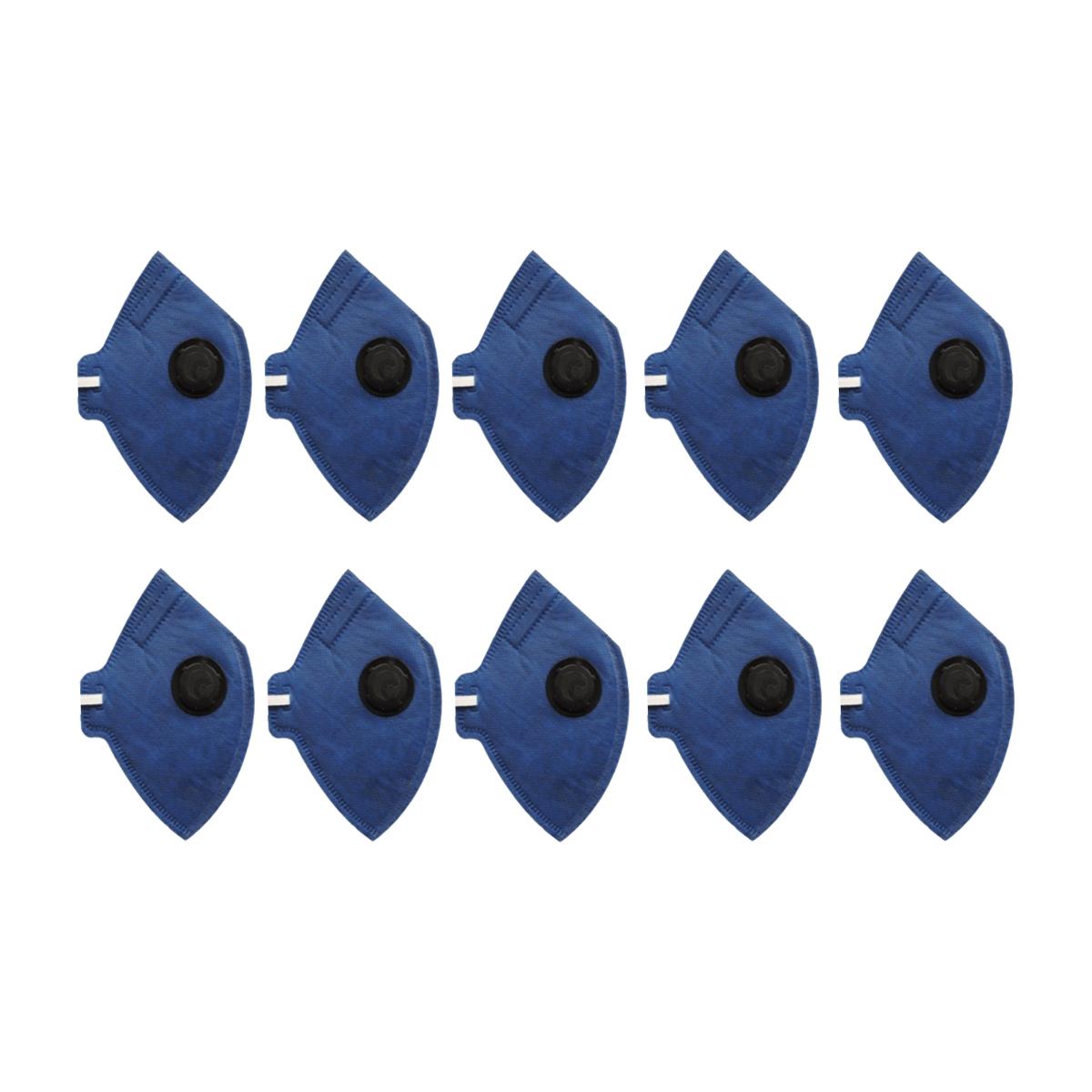 Kit 10 Máscaras Descartável PFF2 - Com Válvula