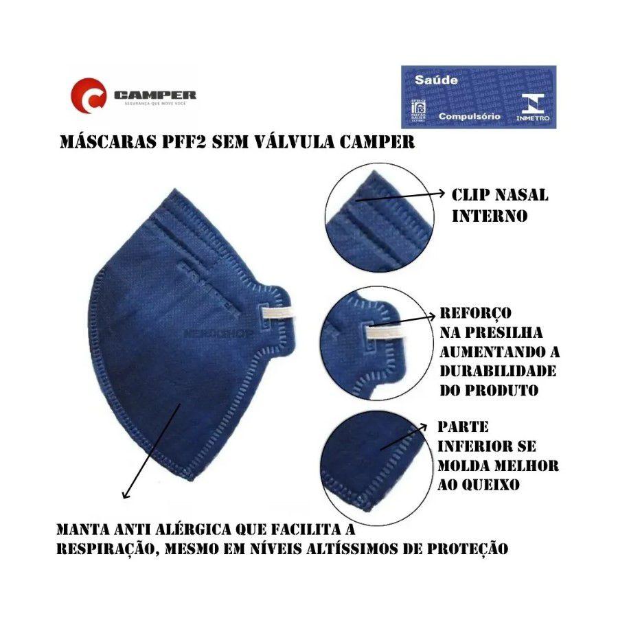 Kit 10 Máscaras Descartável PFF2 - N95 INMETRO
