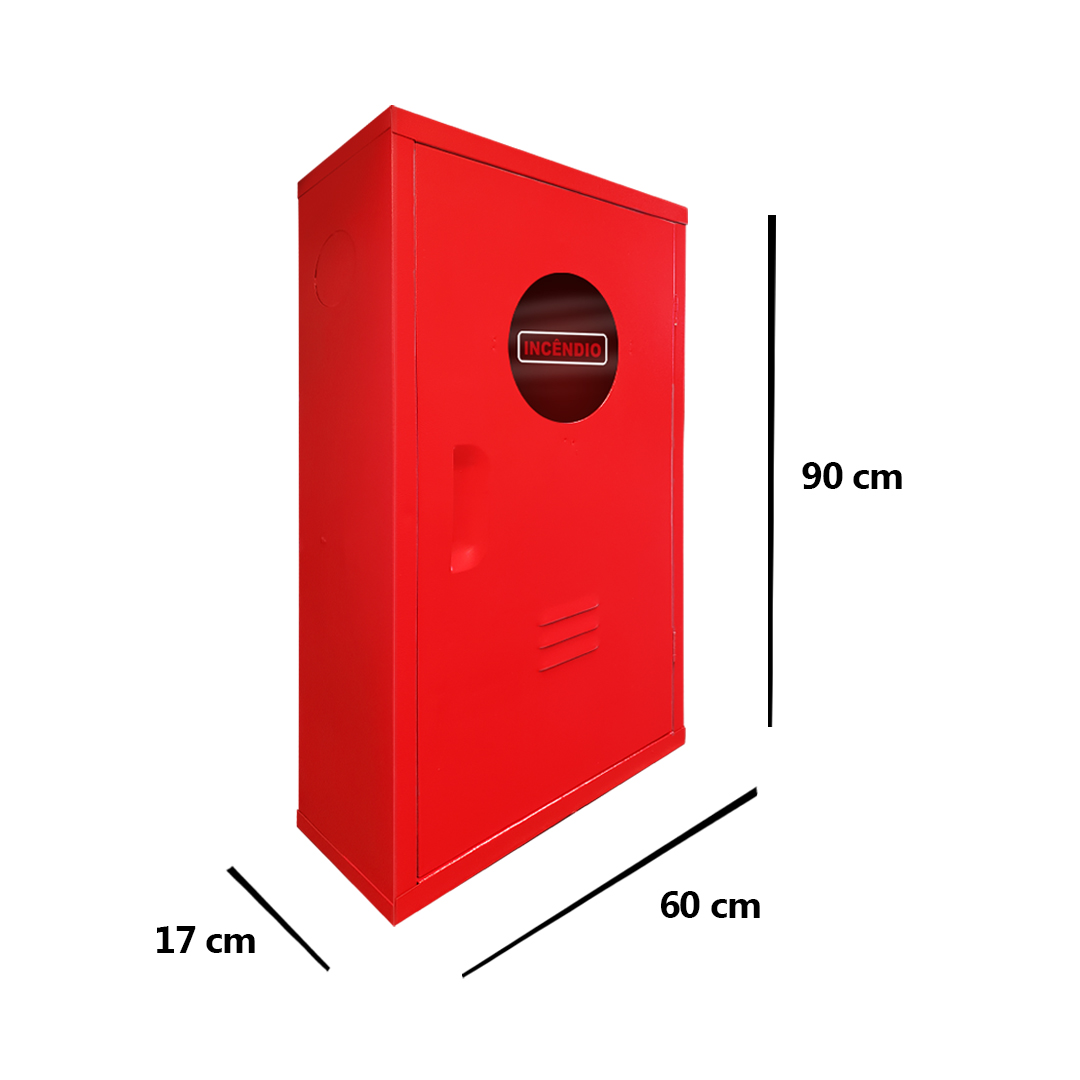 Kit Hidrante 90x60x17cm Completo Alumínio 1 Mangueira de 30m