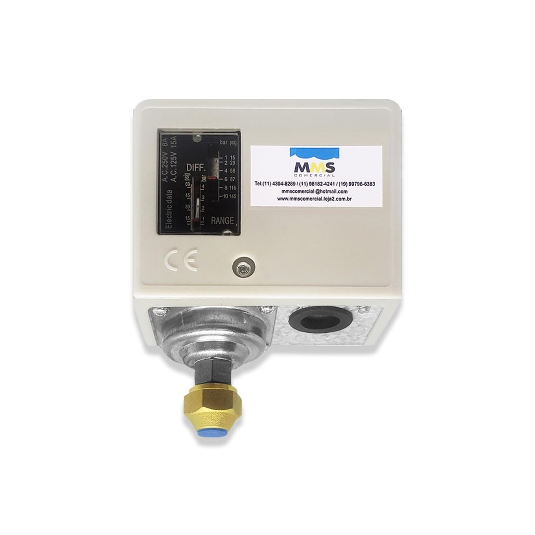 Pressostato Hidrante Compressor 1 A 10 Bar Diferencial 3 Bar