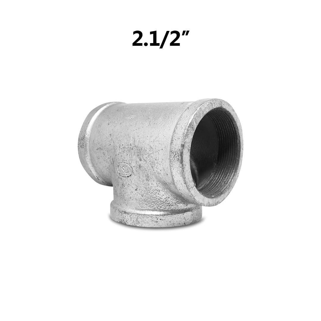 "Tee Galvanizado 2.1/2"" x 90º BSP FFF"