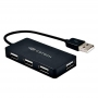 Hub USB 2.0 4 portas C3tech HU-220BK